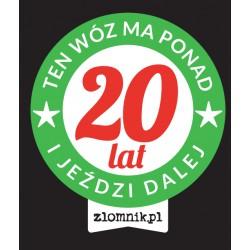"Naklejka ""TEN WÓZ MA PONAD 20 LAT"""