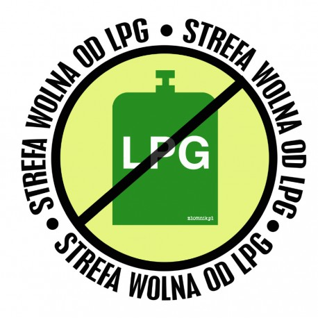 Naklejka STREFA WOLNA OD LPG